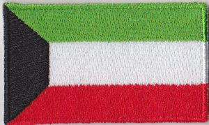 Kuwait Embroidered Flag Patch, style 04